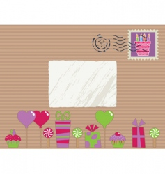 party parcel vector image vector image