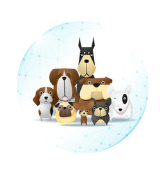 Pet care concept with dogs vector