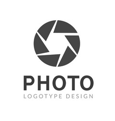 photography logo template modern creative vector image