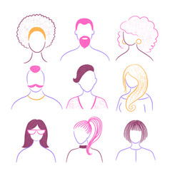 profile pictures faceless avatars vector image