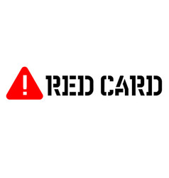 red card attention sign vector image