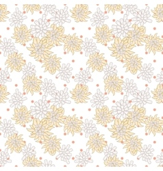 Retro chic flower pattern on fine polka dot vector