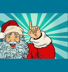 santa claus christmas character shows up vector image