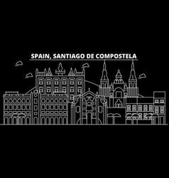 Santiago de compostela silhouette skyline vector
