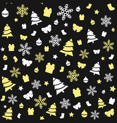seamless gold and white christmas pattern vector image