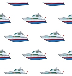 seamless pattern Hand drawn water transpor kids vector image