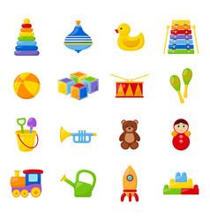 set kid toys vector image