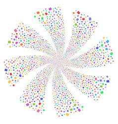 Shekel fireworks swirl rotation vector