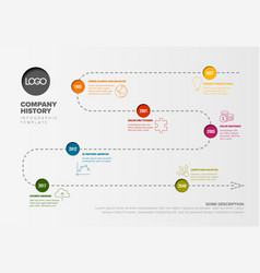 simple timeline with some facts and icons vector image