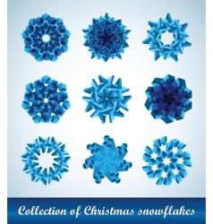 snowflakes ribbons vector image