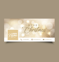 Social media timeline cover with christmas design vector