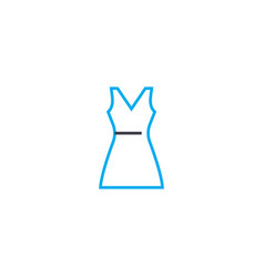 summer dress thin line stroke icon summer vector image