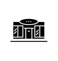 supermarket - shopping center icon vector image