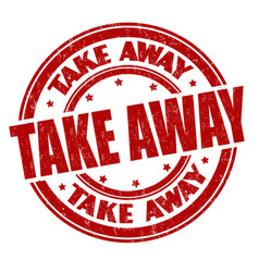 take away sign or stamp vector image
