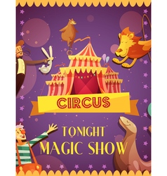 Traveling Circus Magic Show Announcement Poster vector
