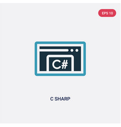 Two color c sharp icon from programming concept vector