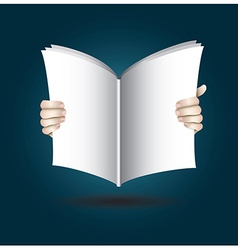 Two Hands Open The Book To Reading vector