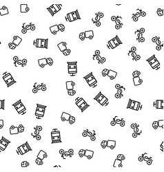 types of town transport seamless pattern vector image