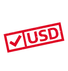 usd rubber stamp vector image