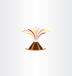Volcano lava explosion icon symbol vector