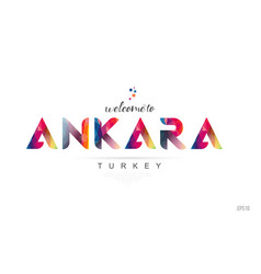 Welcome to ankara turkey card and letter design vector