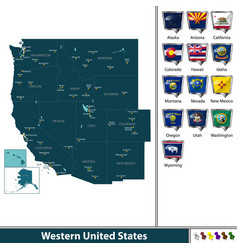 western united states vector image