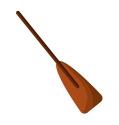 Wooden boat oar sport object element vector