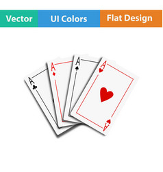 set of four card icons vector image vector image