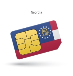 State of Georgia phone sim card with flag vector image vector image