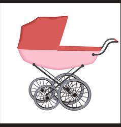 the buggy or carriage for baby vector image vector image