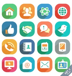 Communication and media icons vector image