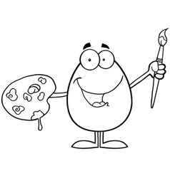 Egg cartoon character vector image vector image