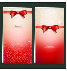 Elegant Invitation Cards Template vector image vector image