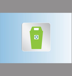 recycle bin trash and garbage icon vector image