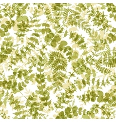 Seamless plant background vector image vector image