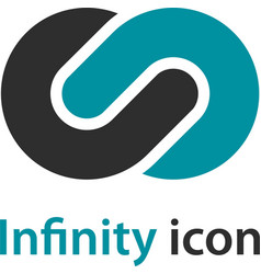abstract infinity eight emblem vector image