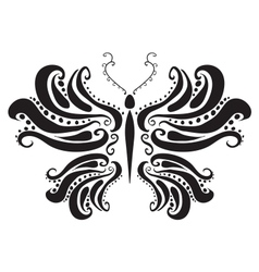 abstract silhouette of a butterfly vector image vector image