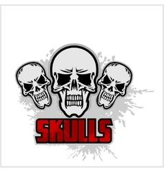 Cartoon skulls design vector image vector image