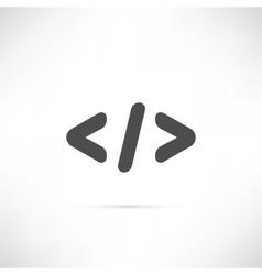 Code Simple Icon vector image