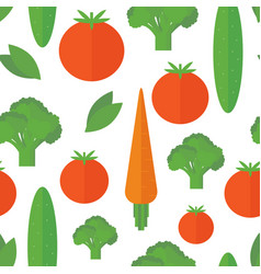 seamless pattern vegetables background vector image