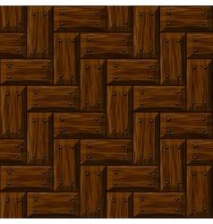 seamless wooden panel door texture with nails vector image vector image