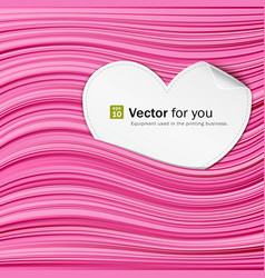 white paper hearts on pink abstract vector image vector image