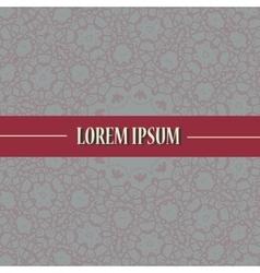 Cover Print with ornamental mandala design vector image vector image