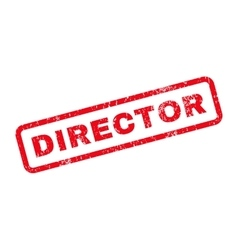 Director text rubber stamp vector