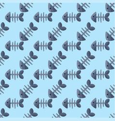 fish bone icon seamless vector image