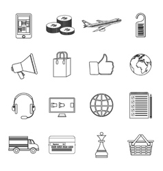 Set of simple line icons vector image