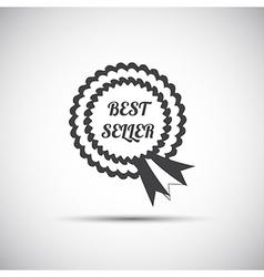 Simple best seller ribbon icon modern vector image
