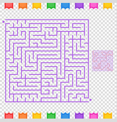 Abstract colored square maze an interesting game vector