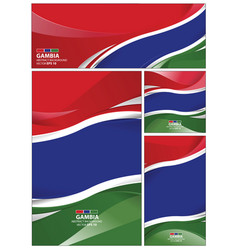 abstract gambia flag background vector image