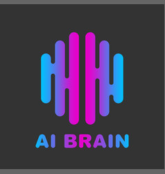 Artificial intelligence brain logo - ai vector
